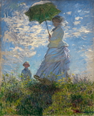 The Promenade, Woman with a Parasol, 1875