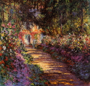 Pathway in Monets Garden at Giverny, 1901-02