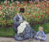 Madame Monet and Child, 1875