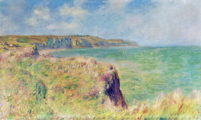Edge of the Cliff at Pourville, 1882