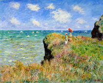 Clifftop Walk at Pourville, 1882