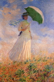 Woman with a Parasol, Facing Right (also known as Study of a Figure Outdoors (Facing Right)),1886